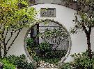 苏式建筑庭院月亮门
