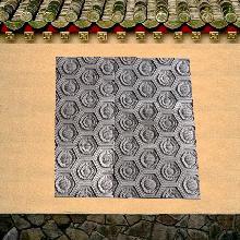 葵花纹砖雕380X240X30MM