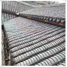 屋顶瓦片黑灰青瓦仿古屋脊瓦当小青瓦滴水沟沿板瓦屋檐古建筑材料
