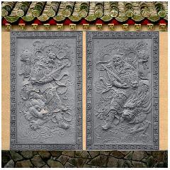 门神仿古砖雕