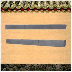 青砖组合线条砖雕
