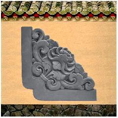 牡丹角花砖雕