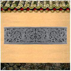 龙纹线砖雕