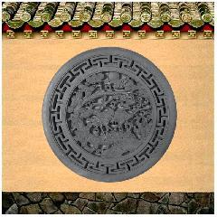 松鹤延年砖雕挂件