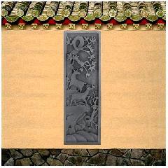 梅鹿图仿古砖雕