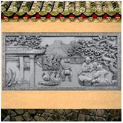 童趣图大幅砖雕