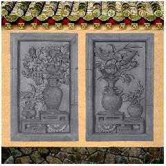 砖雕浮雕富贵平安挂件仿古影壁照壁