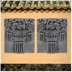 砖雕灯笼花挂件