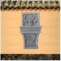 砖雕挂件角花仿古青砖影壁照壁背景墙装饰