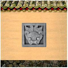 砖雕挂件角花仿古砖雕仿古青砖影壁照壁背景墙