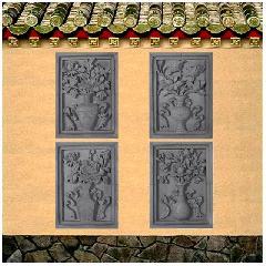 砖雕挂件花开富贵月季牡丹玉兰荷花浮雕