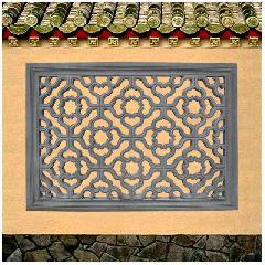 砖雕挂件矩形透窗