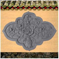 砖雕浮雕挂件牡丹富贵花开仿古影壁照壁背景墙