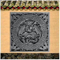 砖雕浮雕挂件连年有余 仿古影壁照壁背景墙