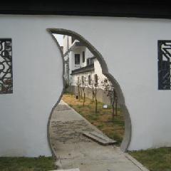 月牙砖细门套,青砖门套,青砖月洞门,中式庭院门洞