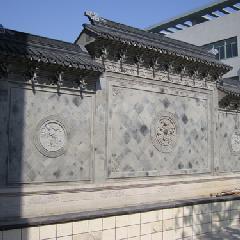 四合院照壁 影壁 屏风墙 纯手工 青砖雕刻