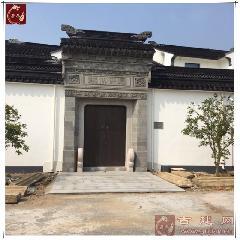 苏州青砖门楼砖雕