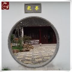 青砖门套,青砖门套线,圆形拱门,中式庭院门洞,中式门套