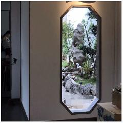 多边形砖细门套苏州园林中式庭院元素