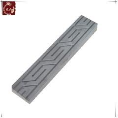 仿古腰线斜回纹线古建装饰边框青砖异形砖雕龙荼砖雕线条40X8X3CM
