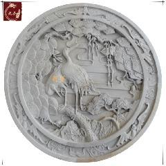 仿古砖雕影壁墙青砖雕刻中式四合院照壁芯松鹤延年龙荼砖雕厂定制