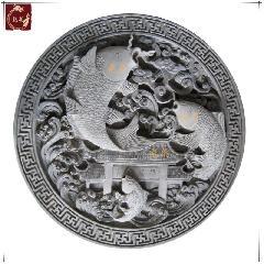 鱼跃龙门青砖影壁墙饰品四合院照壁龙荼中式背景墙仿古建筑材料