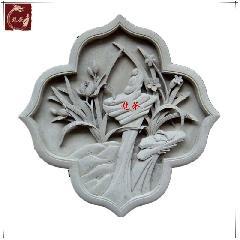 牡丹青砖砖雕中式仿古砖雕青砖浮雕影壁墙装苏派徽派龙荼砖雕直销