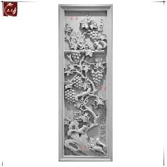 砖雕浮雕仿古砖雕青砖雕刻古建墙壁中式装饰挂件葡松万代龙荼砖雕