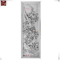 砖雕浮雕仿古砖雕青砖雕刻古建墙壁苏派装饰挂件花开富贵龙荼砖雕