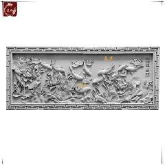 砖雕仿古砖雕中式影壁墙徽派四合院苏派青砖砖雕莲年有余龙荼砖雕