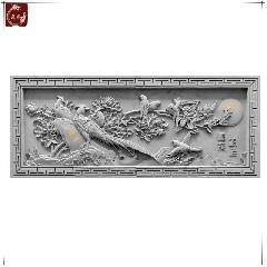 仿古砖雕影壁墙中式四合院古建定制青砖苏派砖雕锦上添花龙荼砖雕