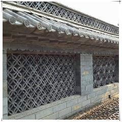 四叶花窗铜钱花窗青瓦拼花砖雕挂件镂空窗花透气窗围墙装饰瓦新品