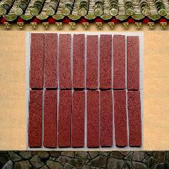 棕红色拉毛砖 陶土紫砂劈开砖仿古外墙条砖别墅通体砖240X53X11MM