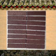 咖啡色拉毛砖 陶土紫砂劈开砖仿古外墙条砖别墅通体砖240X53X11MM