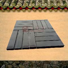 青砖 仿古条砖清水砖铺地复古青灰色厚条砖240X55X15MM龙荼砖窑厂