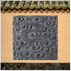 砖雕 仿古砖雕 中式地砖云纹砖浮雕庭院灰色防滑地砖龙荼砖雕新品