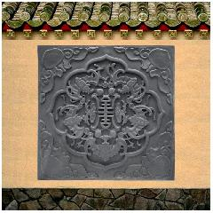 砖雕浮雕中式仿古砖墙地砖四合院五福捧寿古建筑影壁龙荼砖雕直销