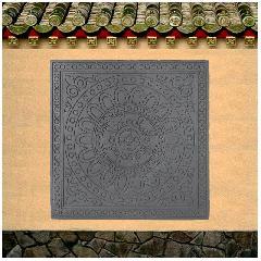 唐莲中式地砖复古砖灰色水泥地砖墙面砖简约园林龙荼砖雕直销新品