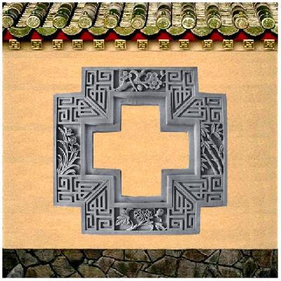 砖雕什锦窗仿古中式镂空梅兰竹菊壁挂件