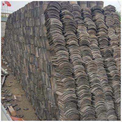 旧瓦片板瓦手工青瓦瓦土瓦屋顶灰色瓦龙荼古建筑材料180X170X12MM