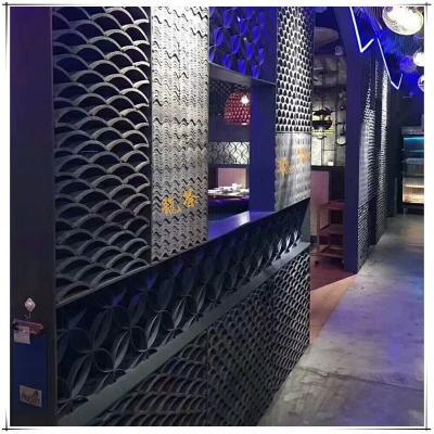 青瓦青砖仿古瓦当装饰立瓦条铺地屋脊立瓦镂空窗花屋檐古建筑材料