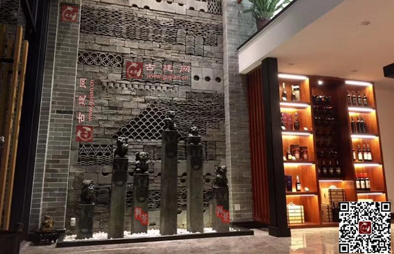 造型瓦,新中式,创意,背景墙