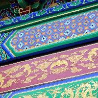 四合院彩绘油漆彩画中色彩的运用艺术