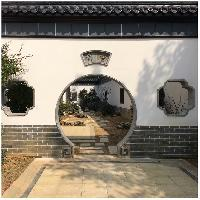 龙荼古建青砖异型门套窗套