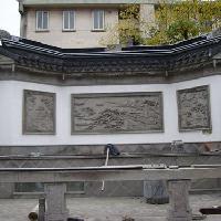 四合院砖料加工和灰浆制备